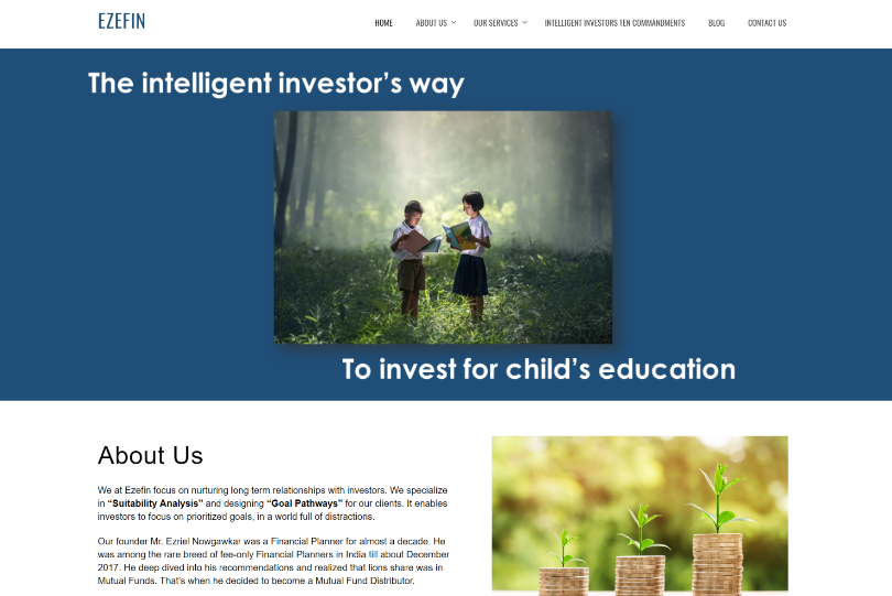 Ezefin Investment Solutions Website Designing