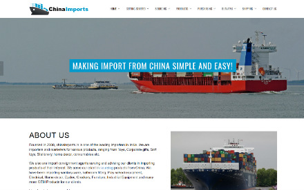 China Imports Website Desiging
