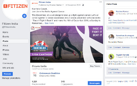 Fitizen India Social Media Marketing