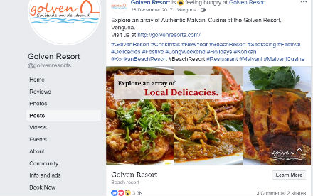 Golven Resort Social Media Marketing